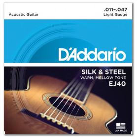 D`ADDARIO EJ40 SILK & STEEL FOLK 11-47 Струны