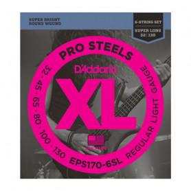 D`ADDARIO EPS170-6SL PRO STEELS LIGHT 6 STRING 32-130 Струны для бас-гитары
