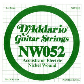 D`ADDARIO NW052 XL Nickel Wound 052 Струны