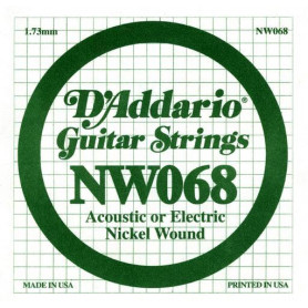 D`ADDARIO NW068 XL Nickel Wound 068 Струны
