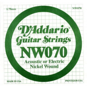 D`ADDARIO NW070 XL Nickel Wound 070 Струны