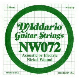 D`ADDARIO NW072 XL Nickel Wound 072 Струны