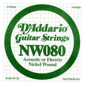 D`ADDARIO NW080 XL Nickel Wound 080 Струны