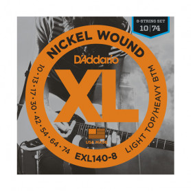 D`ADDARIO EXL140-8 LIGHT TOP / HEAVY BOTTOM 8 STRING (10-74) Струны