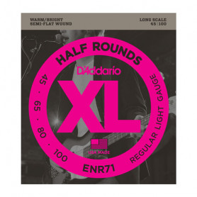 D`ADDARIO ENR71 XL NICKEL HALF ROUNDS BASS 45-100 Струны