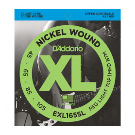 D`ADDARIO EXL165SL XL REG LIGHT TOP /  MED BOTTOM 45-105 Струны
