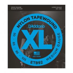 D`ADDARIO ETB92 XL NYLON TAPEWOUND BASS 50-105 Струны