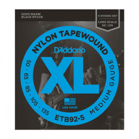 D`ADDARIO ETB92-5 XL NYLON TAPEWOUND 5 STRING BASS 50-135 Струны