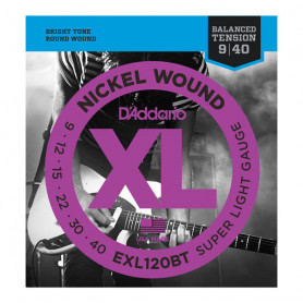D`ADDARIO EXL120BT XL NICKEL BALANCED TENSION, SUPER LIGHT (09-40) Струны