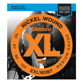 D`ADDARIO EXL160BT XL BALANCED TENSION BASS MEDIUM 50-120 Струны