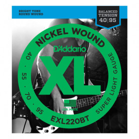 D`ADDARIO EXL220BT XL BALANCED TENSION BASS SUPER LIGHT40-95 Струны