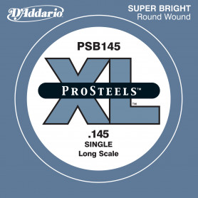 D`ADDARIO PSB145 XL PRO STEELS ROUND WOUND SINGLE 145 Струнa