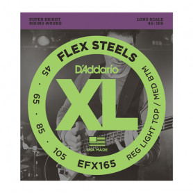 D`ADDARIO EFX165 XL FLEX STEELS REG LIGHT TOP / MED BOTTOM 45-105 Струны