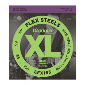 D`ADDARIO EFX165 XL FLEX STEELS REG LIGHT TOP / MED BOTTOM 45-105 Струны