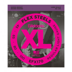 D`ADDARIO EFX170 XL FLEX STEELS LIGHT 45-100 Струны