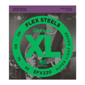 D`ADDARIO EFX220 XL FLEX STEELS SUPER LIGHT 40-95 Струны