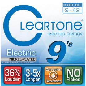 CLEARTONE 9409 ELECTRIC NICKEL-PLATED SUPER LIGHT 09-42 Струны для электрогитары с покрытием