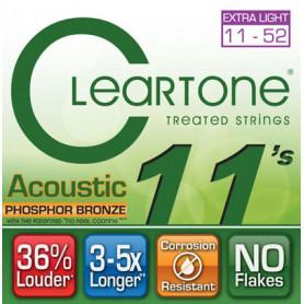 CLEARTONE 7411 ACOUSTIC PHOSPHOR BRONZE EXTRA LIGHT 11-52 Струны