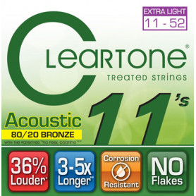 CLEARTONE 7611 ACOUSTIC 80/20 BRONZE ULTRA LIGHT 11-52 Струны