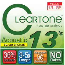 CLEARTONE 7613 ACOUSTIC 80/20 BRONZE MEDIUM 13-56 Струны