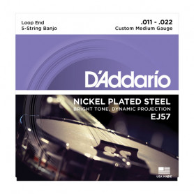 D`ADDARIO EJ57 BANJO NICKEL CUSTOM MEDIUM 5 STRING 11-22 Струны