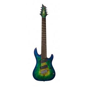 CORT KX508MS (Mariana Blue Burst) Электрогитара 8-струнный