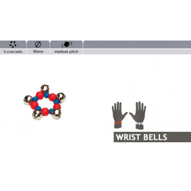 Rohema Colorful Wristbell 5 Cross Bells