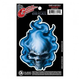 PLANET WAVES GT77011 GUITAR TATOO, BLUE FLAME SKULL Наклейки для гитар фото
