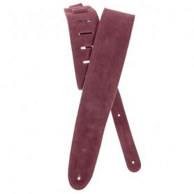 PLANET WAVES PW25SS03DX Suede Guitar Strap, Burgundy Ремень гитарный фото