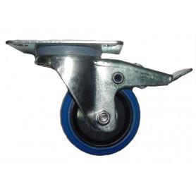 FREE CASE W04 (37091), Колесо с тормозом 80 мм синее фото