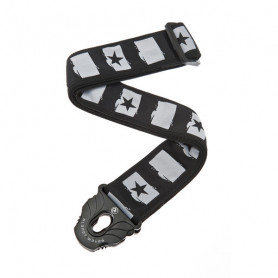 PLANET WAVES PW50PLC01 Planet Lock Guitar Strap, Rockstar Ремень гитарный фото