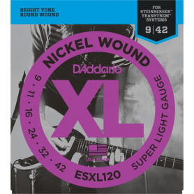 D`ADDARIO ESXL120 XL Super Light Dpuble Ball End (09-42) Струны
