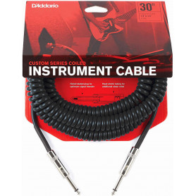 D`ADDARIO PW-CDG-30BK Coiled Instrument Cable - Black Кабель