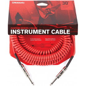 D`ADDARIO PW-CDG-30RD Coiled Instrument Cable - Red Кабель фото