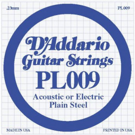 D`ADDARIO PL009 Plain Steel 009 Струны