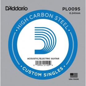 D`ADDARIO PL0095 Plain Steel 0095 Струна для гитары