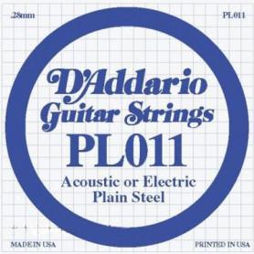 D`ADDARIO PL011 Plain Steel 011 Струны