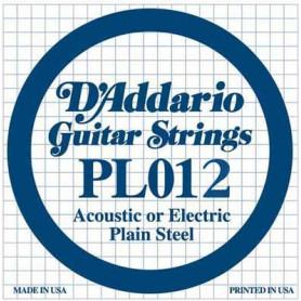 D`ADDARIO PL012 Plain Steel 012 Струны