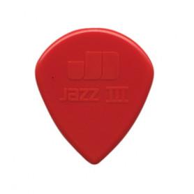 DUNLOP 47P3N NYLON JAZZ III RED NYLON PLAYER'S PACK Медиаторы