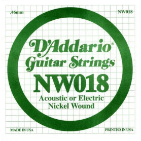 D`ADDARIO NW018 XL Nickel Wound 018 Струны