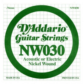 D`ADDARIO NW030 XL Nickel Wound 030 Струны