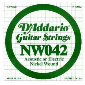 D`ADDARIO NW042 XL Nickel Wound 042 Струны