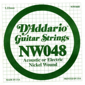 D`ADDARIO NW048 XL Nickel Wound 048 Струны