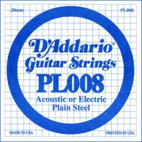 D`ADDARIO PL008 Plain Steel 008 Струны