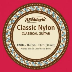 D`ADDARIO J2702 CLASSIC NYLON NORMAL TENSION - 2ND Струна для классической гитары
