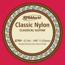 D`ADDARIO J2703 CLASSIC NYLON NORMAL TENSION - 3RD Струна для классической гитары