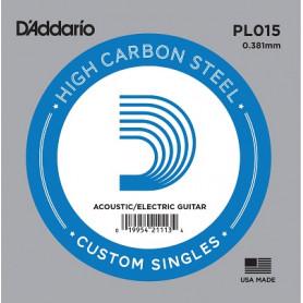 D`ADDARIO PL015 Plain Steel 015 Струна для гитары
