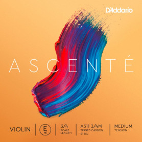 D`ADDARIO A311 3/4M Ascenté Violin String E 3/4M Струна Ми для скрипки