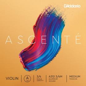 D`ADDARIO A312 3/4M Ascenté Violin String A 3/4M Струна Ля для скрипки