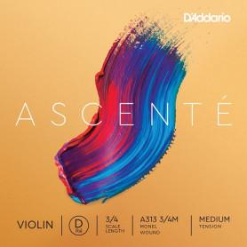 D`ADDARIO A313 3/4M Ascenté Violin String D 3/4M Струна Ре для скрипки